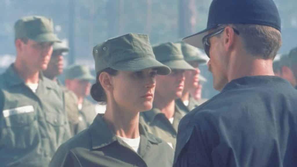 """Demi Moore e Viggo Mortensen in """"Soldato Jane"""", stasera in tv su Cielo - Photo Credits: Film at Lincoln Center"""