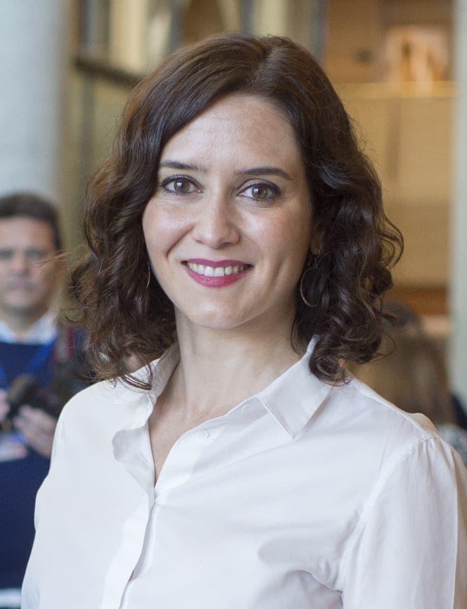 La Presidente della Comunità Autonoma di Madrid Isabel Díaz Ayuso