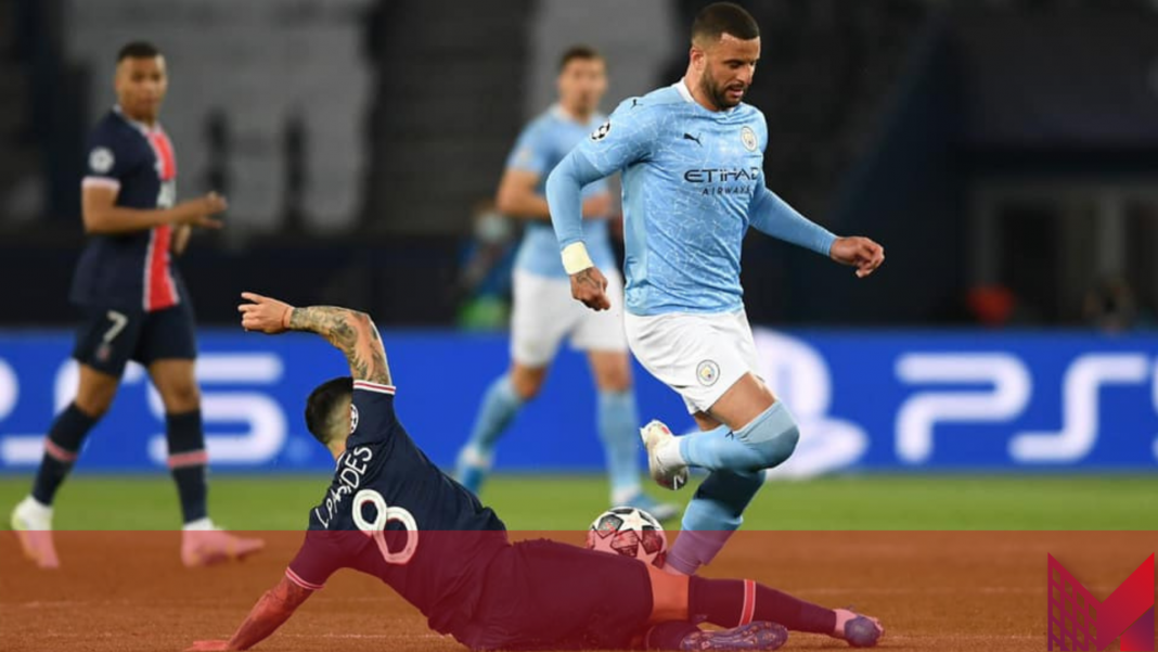 Manchester City-PSG (Foto Credit - Flow Sports Pagina Facebook)