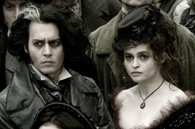 "Johnny Depp e Helena Bonham Carter in ""Sweeney Todd"" diretto da Tim Burton- Photo Credit: dal web"