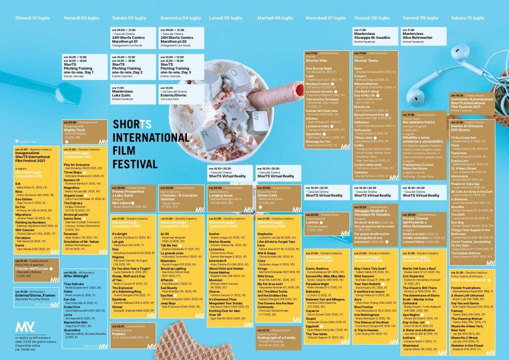 Programma della 22 edizione - Photo Credits: ShorTS International Film Festival