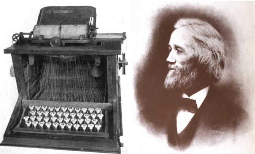 Invenzione macchina da scrivere  La Remington No. 1. del 1867 Photo credits: Twitter