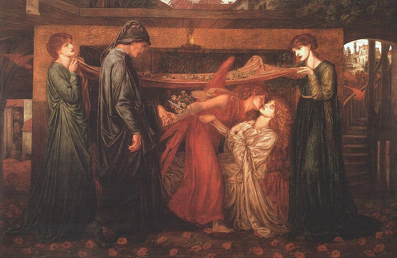 Dante Gabriel Rossetti, Il sogno di Dante, 1871