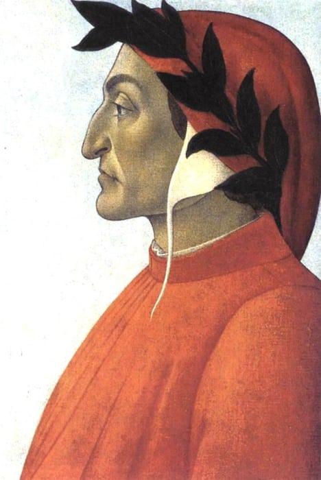 Dante ritratto di profilo, Botticelli, 1495