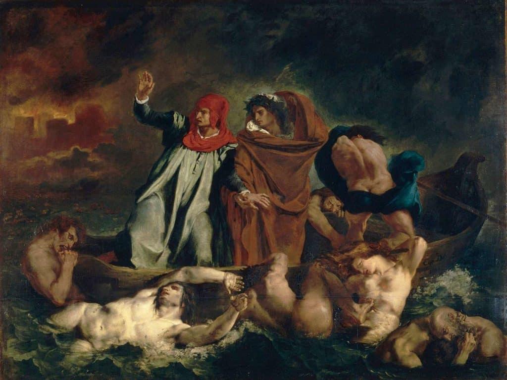 Delacroix, la Barca di Dante, 1822
